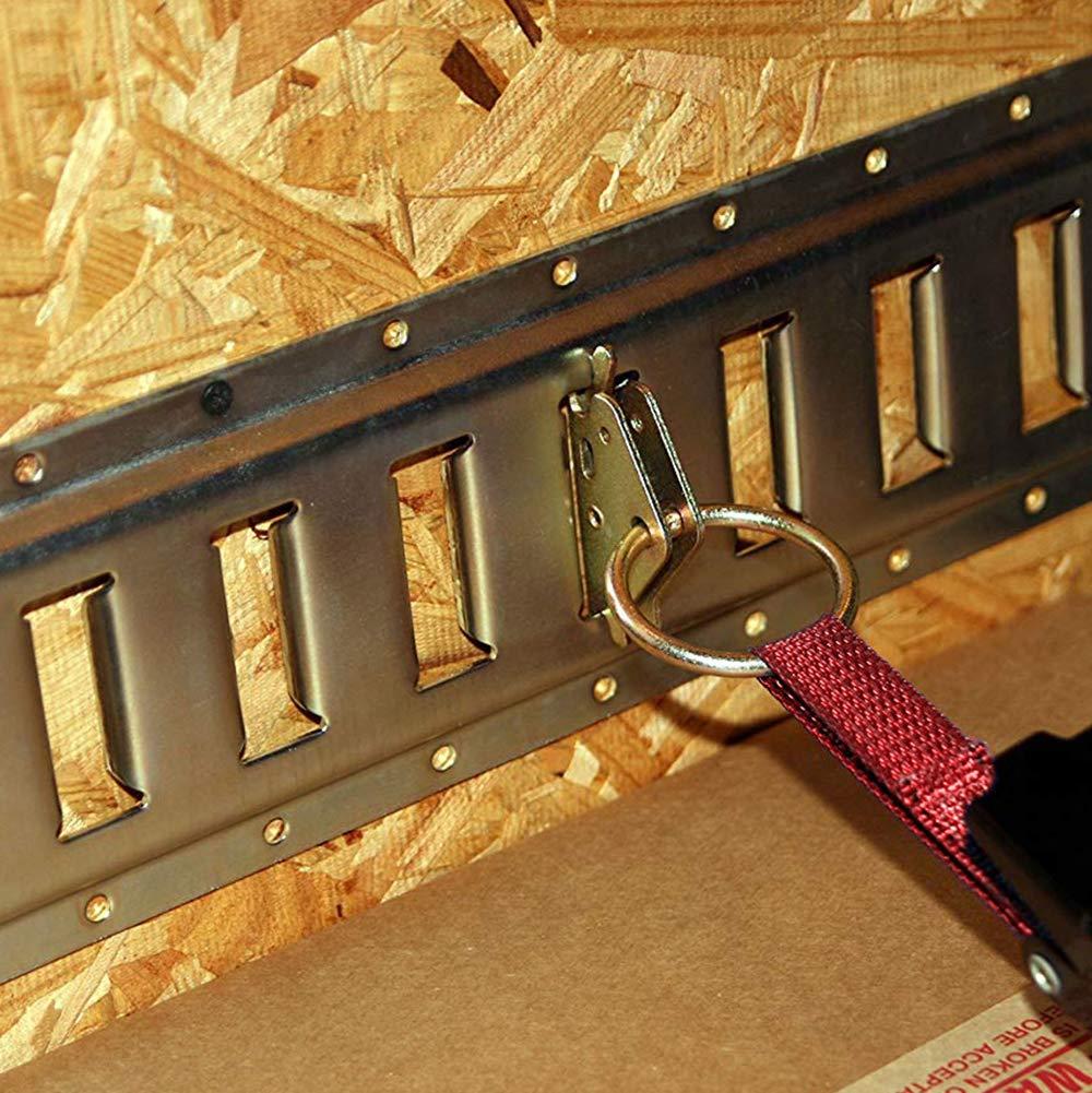 Sporthfish Steel E-Track O Ring Tie-Down Anchors Cargo Loads in Flatbeds Trailers Van Trucks Pickups Tie Down 10 pcs