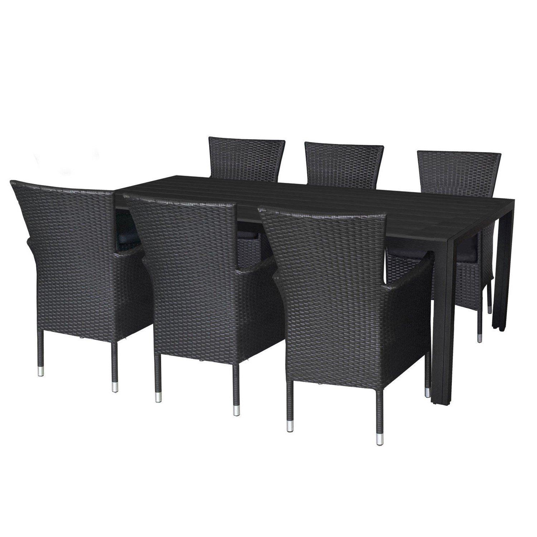 Wohaga Elegantes 7tlg Gartenmöbel Terrassenmöbel Set Aluminium