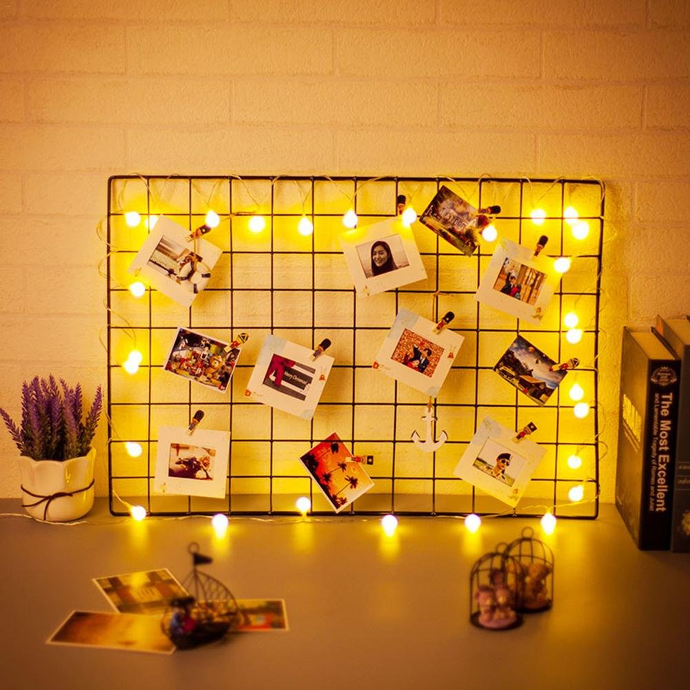 IMSHI Painted Wire Wall Grid Panel, Multifunction Photo Hanging Display and Wall Storage Organizer