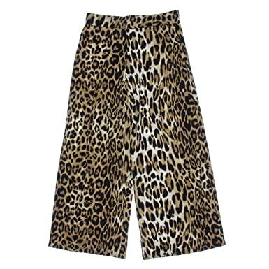 60710b3d5a29 Image Unavailable. Image not available for. Color: Lauren Ralph Lauren  Womens Jersey Animal Print Wide Leg Pants Brown M
