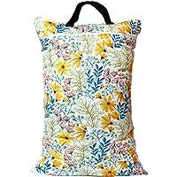 Waterproof Double Zip Large Wet Bag Yellow Flowers 40x70cm
