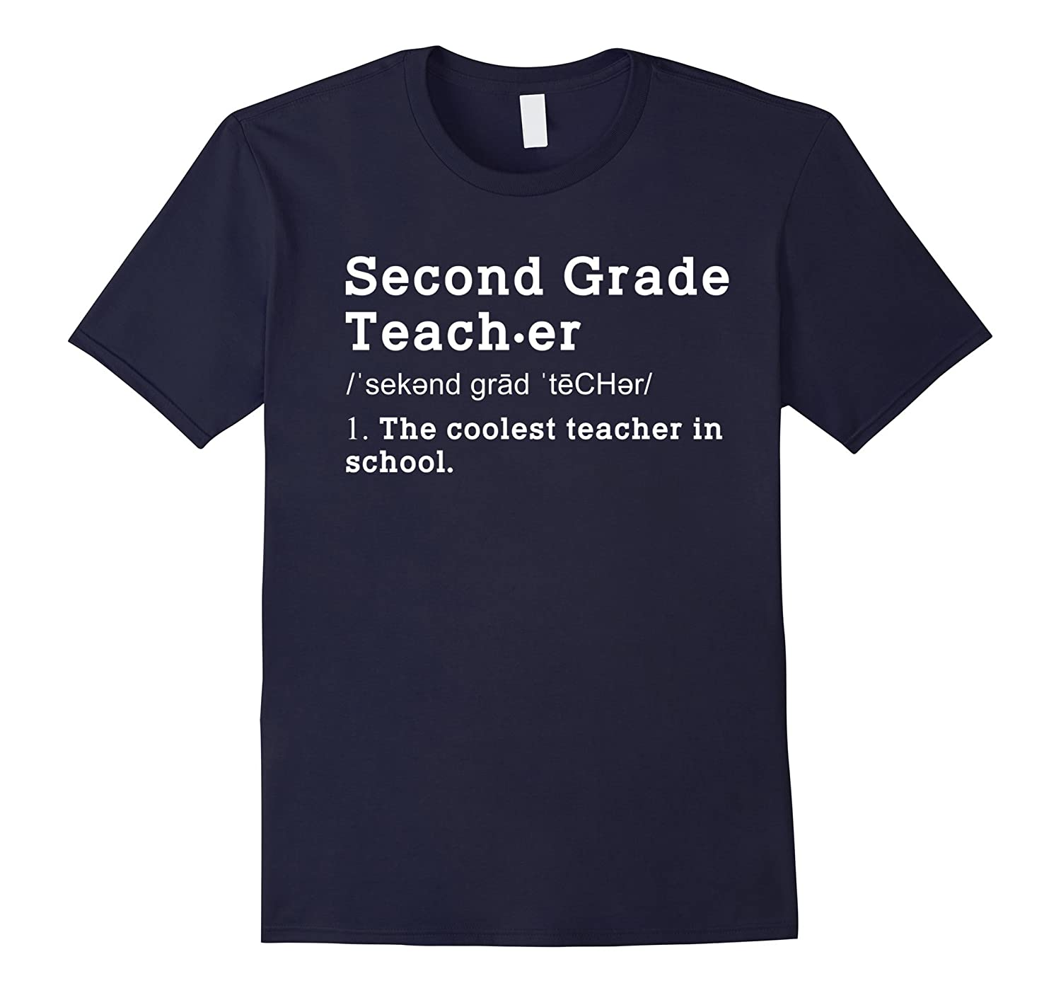 2nd Teacher Definition Funny Shirt Second Grade Teacher Gift-TD