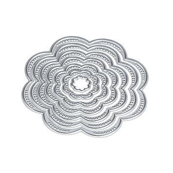 Amazon Com Anboo Diy Art Craft Flower Heart Metal Cutting Dies