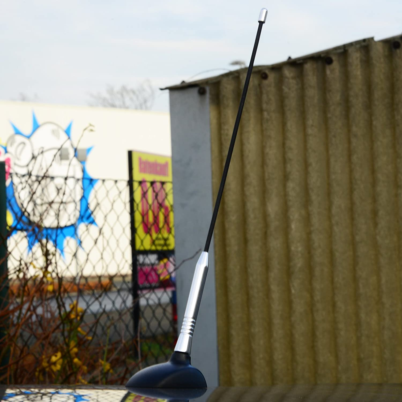 WOLTU AT7031bl Antenne de la Voiture Universelle 34 cm sur Le Toit de lantenne Tige antenne de Toit,Bleu