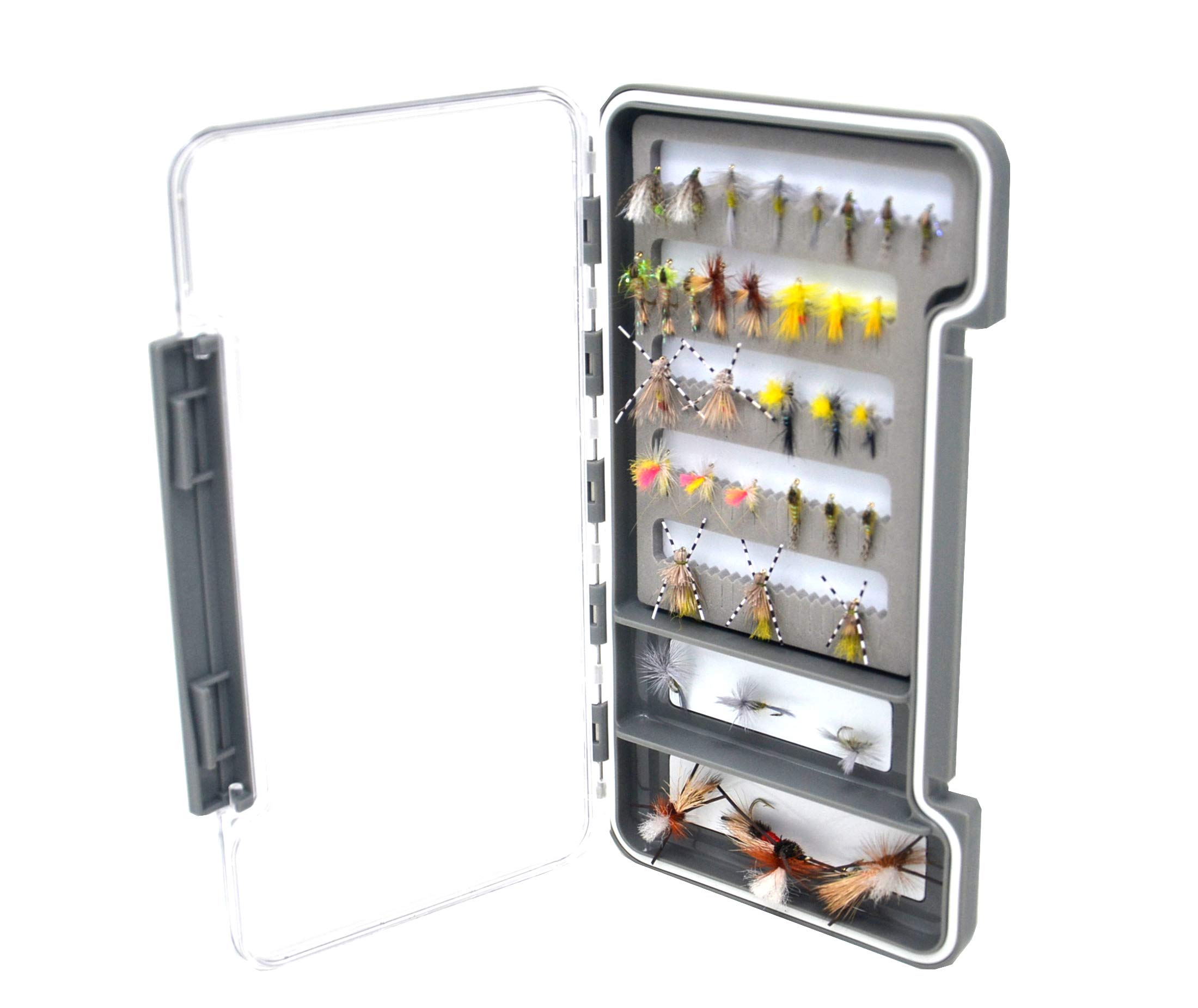 Outdoor Planet Slim Waterproof Fly Box Slit Foam Pocket Fly Fishing Box with Magnetic Compartment for Trout Fishing Flies by Outdoor Planet