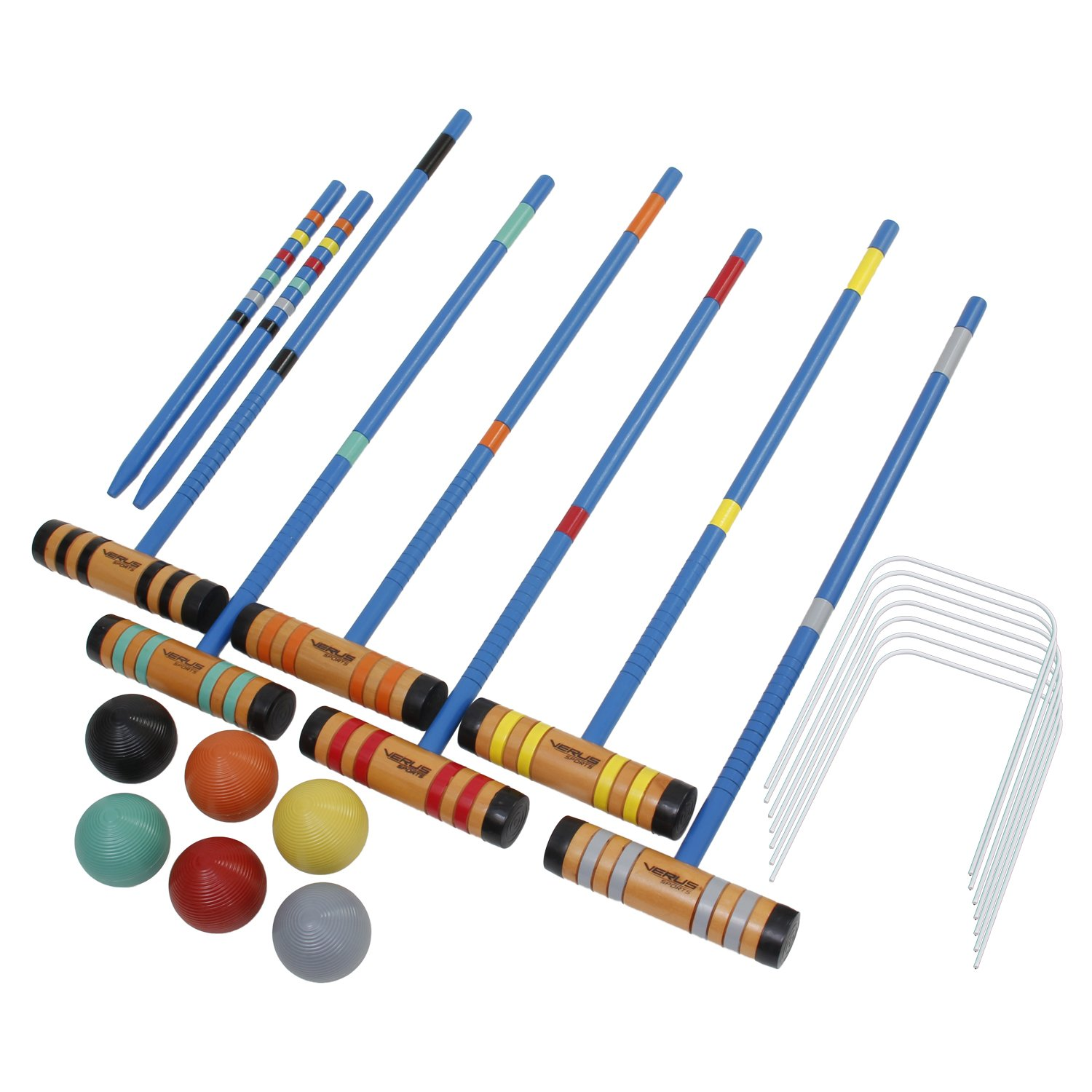 Verus Sports Champion 6-Player Croquet Set Mallet and Carrying Case, 24-Inch by Verus Sports