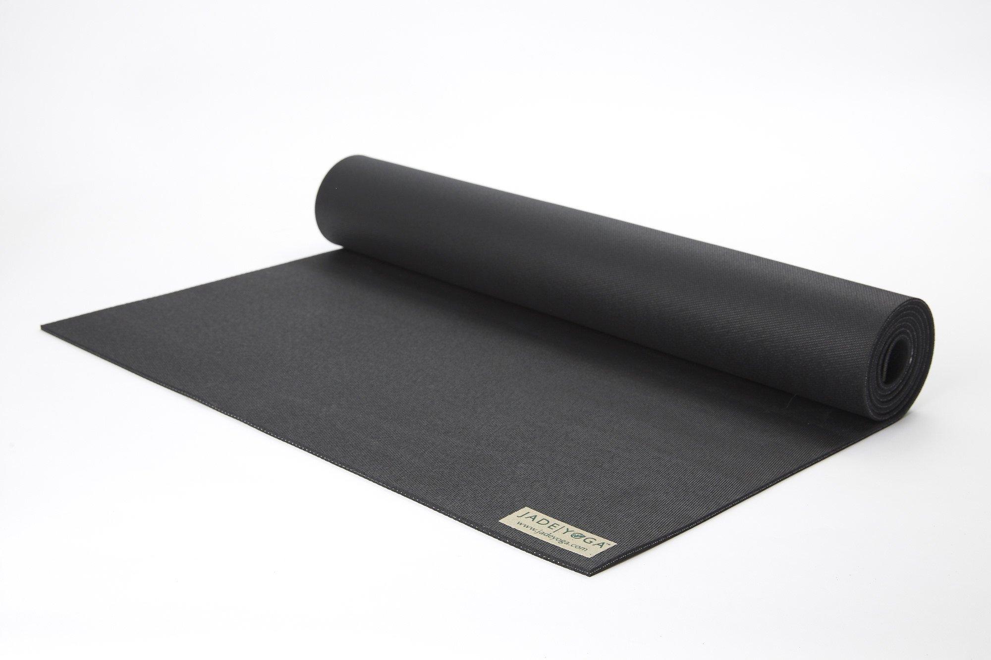 Jade Harmony 3/16'' 24'' x 68'' Black Yoga Mat