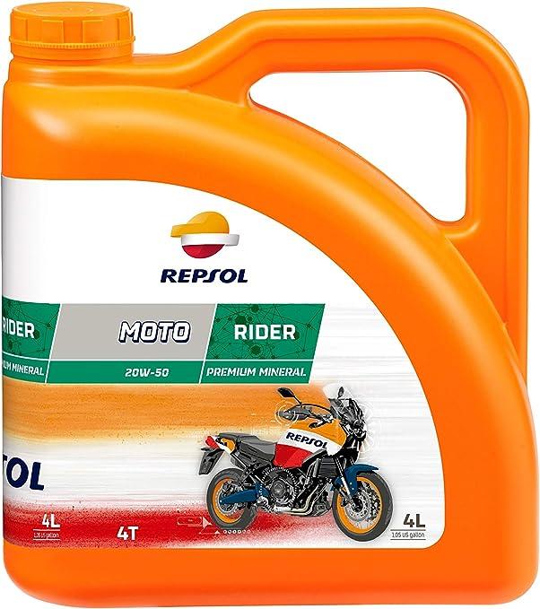 Repsol RP165Q54 Moto Rider 4T 20W-50 Aceite de Motor, 4 L: Amazon ...