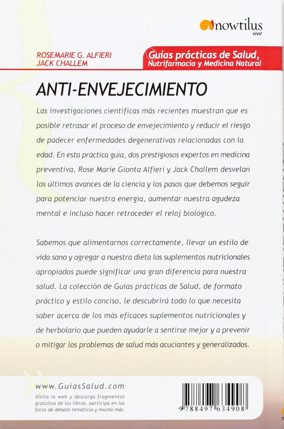 Anti-envejecimiento (Spanish Edition): Rose Marie Gionta Alfieri, Jack Challem: 9788497634908: Amazon.com: Books