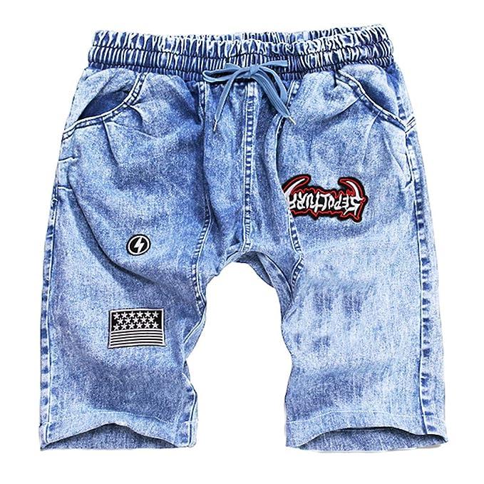 NINGNETI Pantalones Cortos de Verano para Hombre Pantalones ...