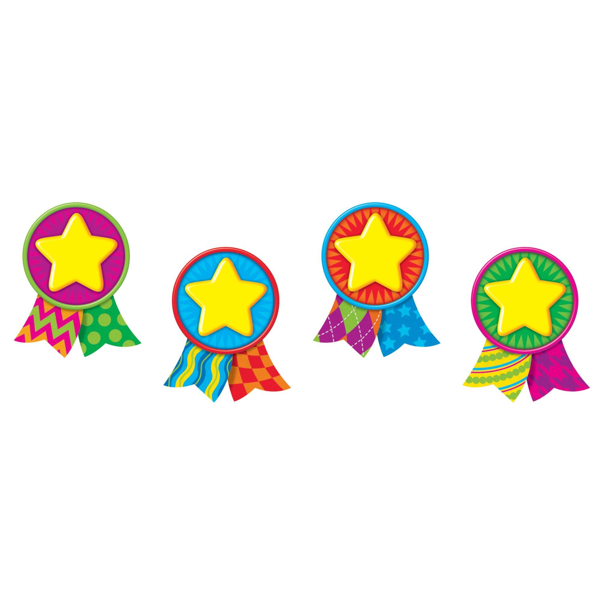 TREND enterprises, Inc. T-10879BN Star Medals Mini Accents Variety Pack, 36 Per Pack, 6 Packs by TREND Enterprises