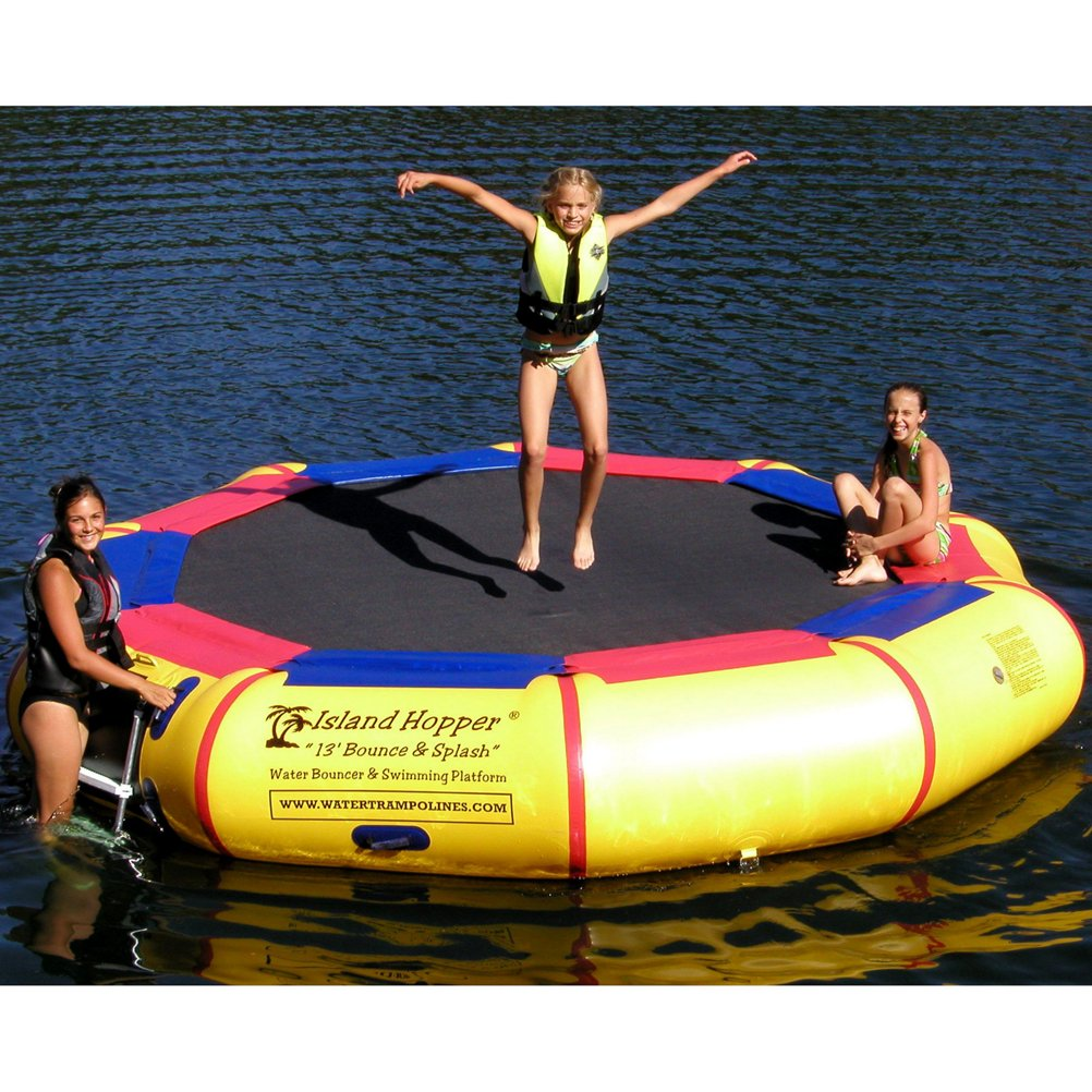 Island Hopper-13'-Bounce-N-Splash-Water-Bouncer