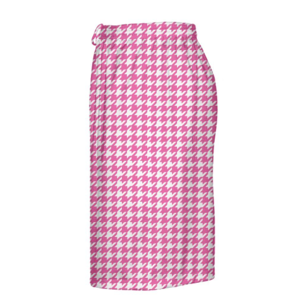 Cool Shorts Sublimated Shorts Pink Kids Lacrosse Shorts Youth Hot Pink Houndstooth Shorts