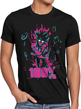 A.N.T. 100 por ciento Camiseta para Hombre T-Shirt nime Otaku Mob japón: Amazon.es: Ropa y accesorios