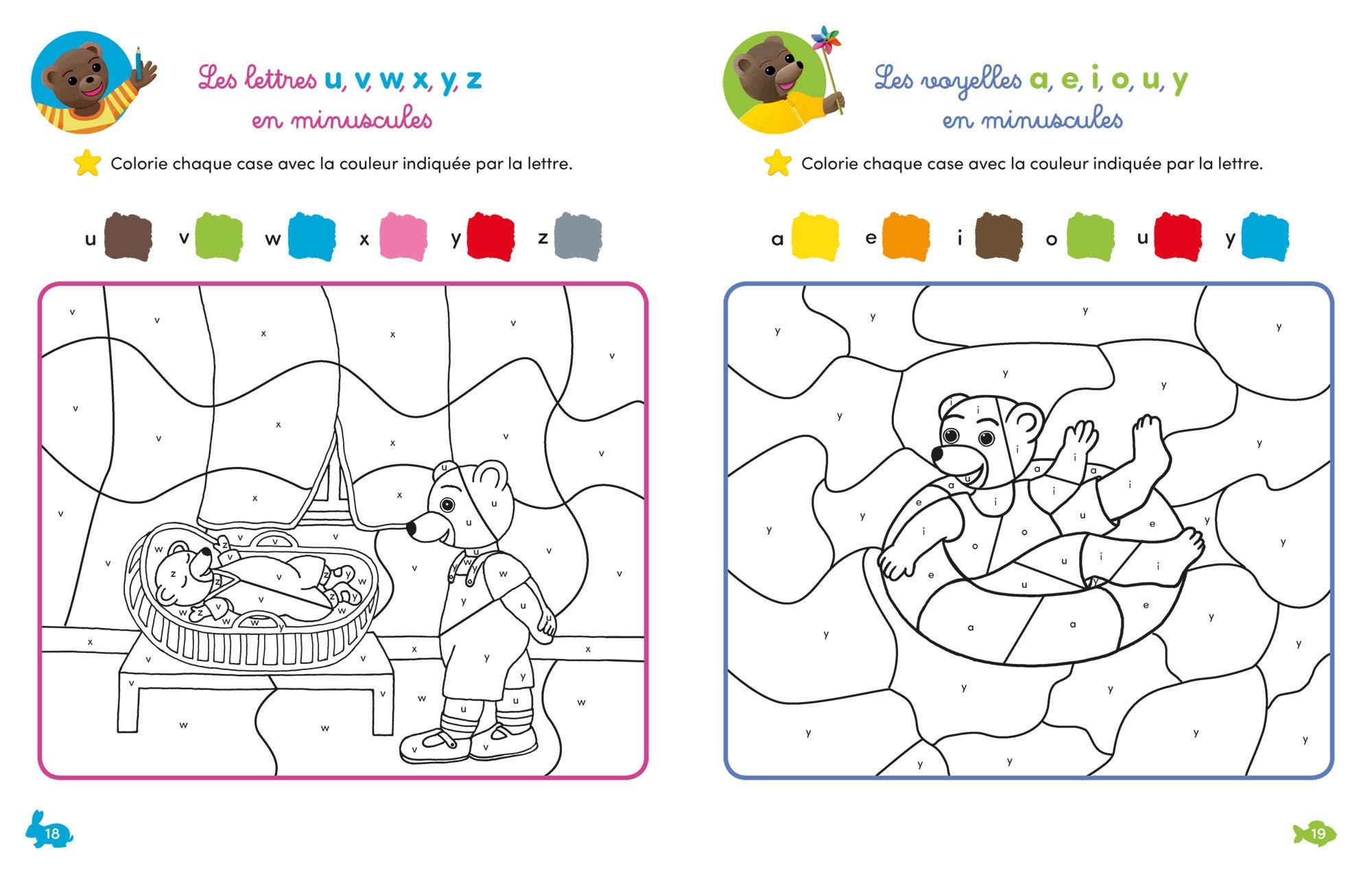 Mon cahier de coloriages magiques avec Petit Ours Brun   MS ...