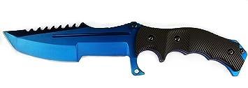 Bokhammer CS GO Cuchillo de caza, diseño de Blue Steel ...