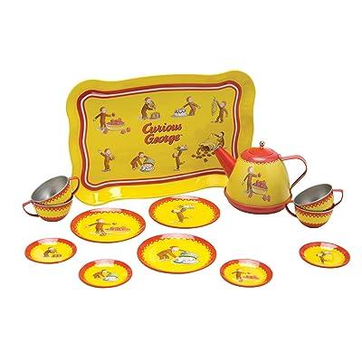 Schylling Curious George Tin Tea Set: Toys & Games