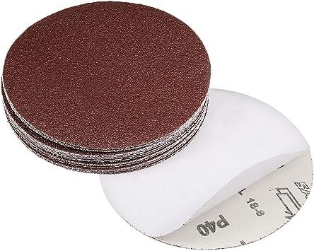 sourcing map 6-inch PSA Sanding Discs 60 Grits Self Stick Adhesive Back Aluminum Oxide Sandpaper 10pcs