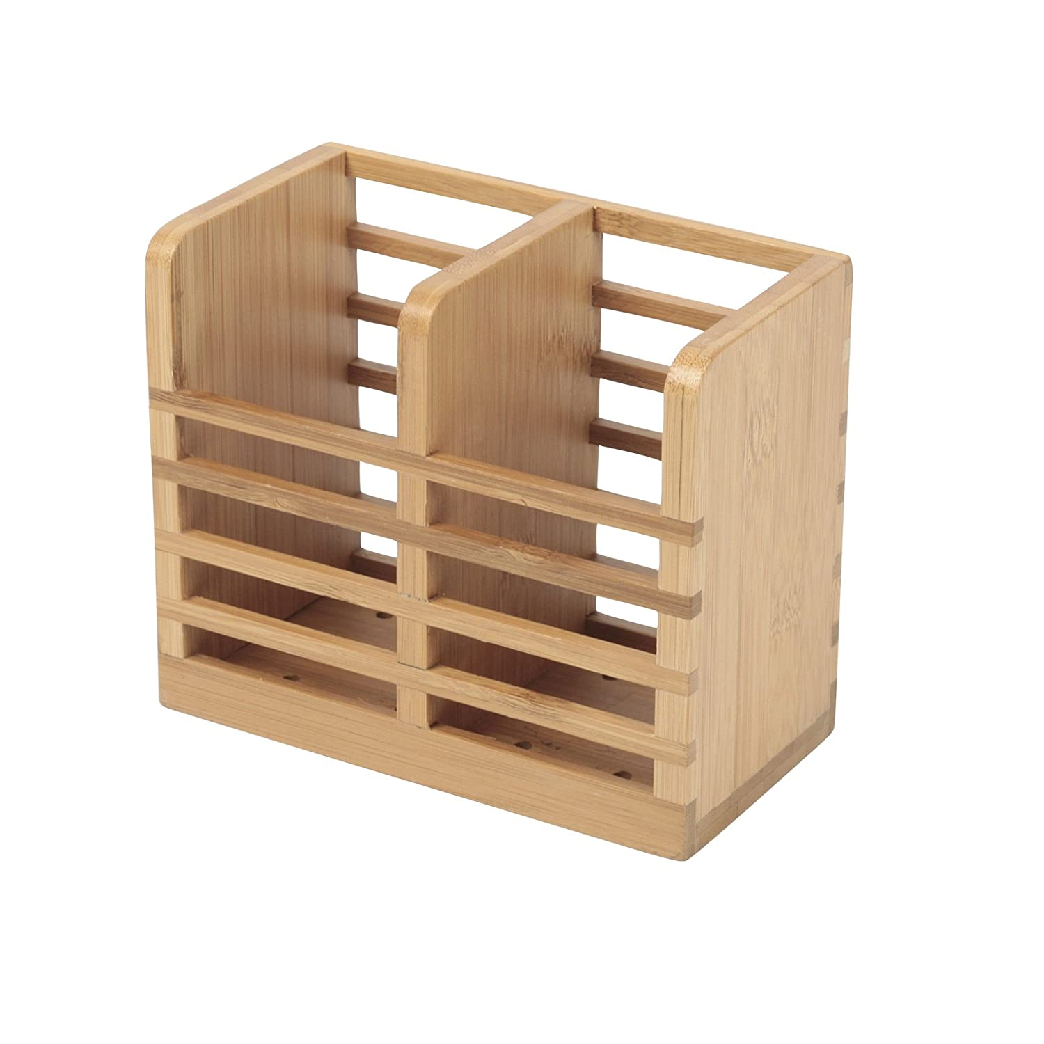 Ambiance Nature 507107 Cutlery Holder Bamboo 15 x 8 x 12.5 cm