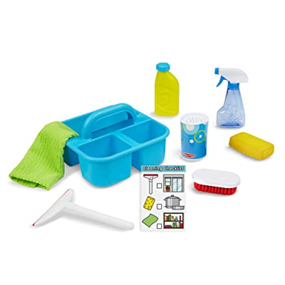 "Melissa & Doug Spray, Squirt & Squeegee Play Set (Pretend Play Cleaning Set, Promotes Motor Skills, 8"" H x 8"" W x 8"" L): Toy: Toys & Games"