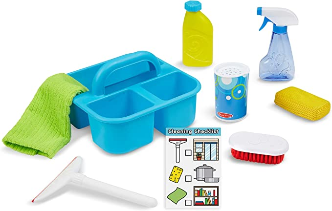 """Melissa & Doug Spray, Squirt & Squeegee Play Set (Pretend Play Cleaning Set, Promotes Motor Skills, 8"""" H x 8"""" W x 8"""" L)"""