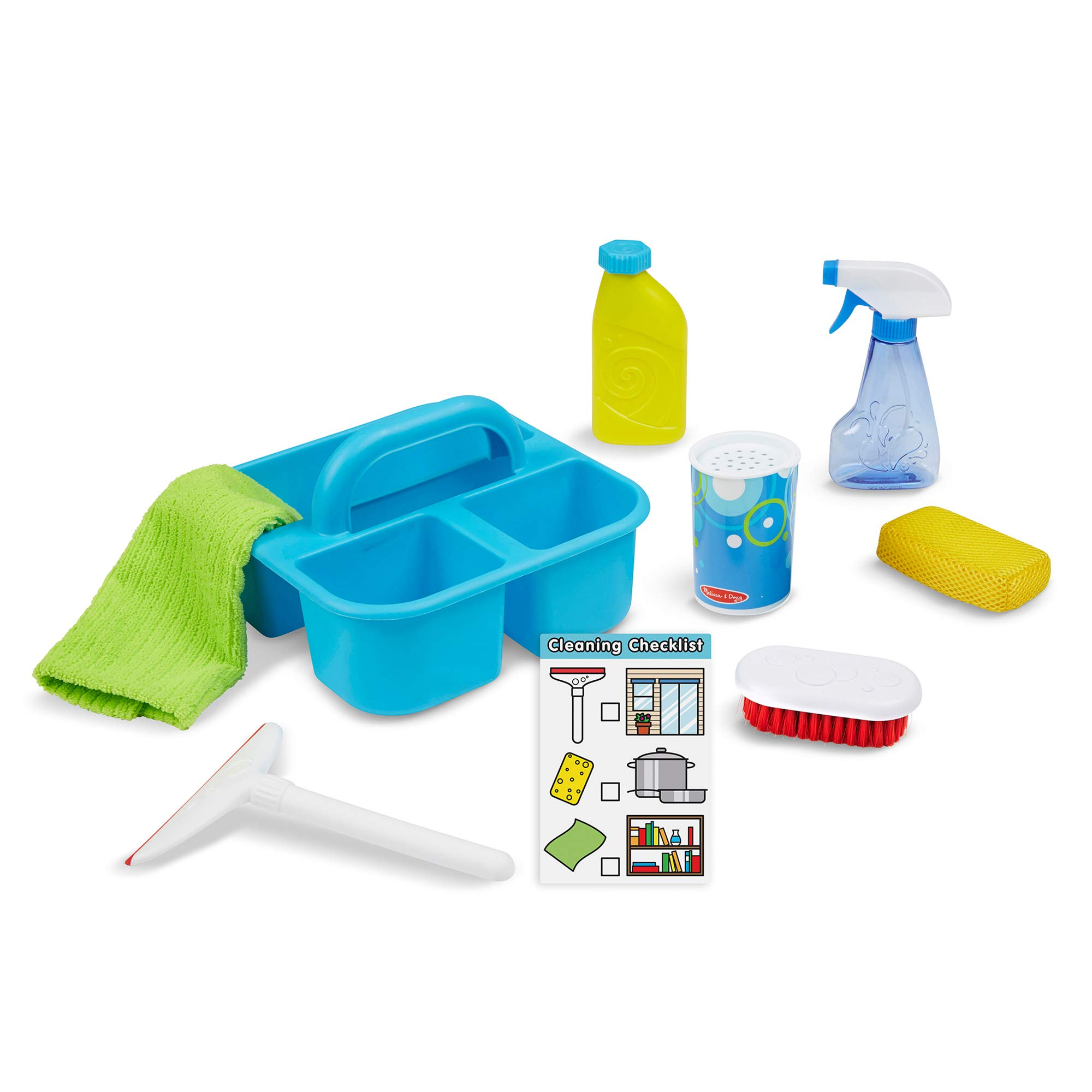 Melissa & Doug Spray, Squirt & Squeegee Play Set (Pretend Play Cleaning Set, Promotes Motor Skills, 8'' H x 8'' W x 8'' L) by Melissa & Doug