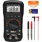 Digital Multimeter, Tacklife DM03 Auto Ranging Electronic Voltage Multi Meter Volt Amp Ohm Diode and Continuity Tester with Backlit LCD, Max Value display and data retention