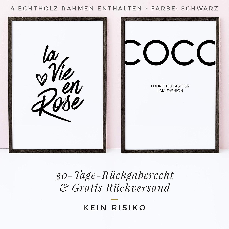 Bilderrahmen 20x30 Heimlich/® Bilderrahmen A4 Natur Doppelpack Echtholz Rahmen mit Plexi-Glas f/ür unsere Poster Sets /& Bilderrahmen Collagen 2 STK.