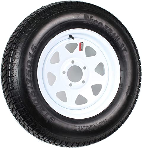 Trailer Tire On Rim ST205/75D15 F78-15 205/75-15 LRC 5 Lug Wheel