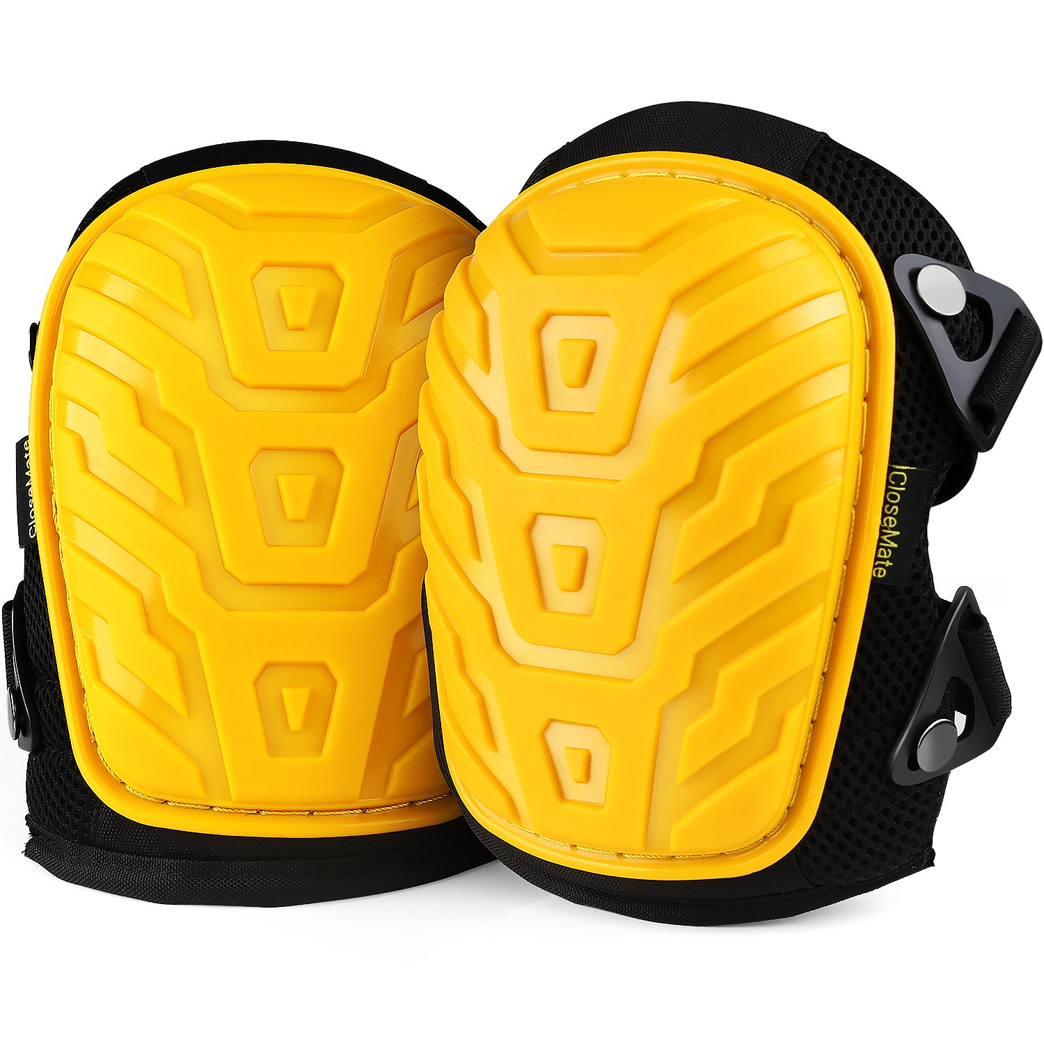 Closemate Anti-Slip Knee Pads for Work, with Cozy Gel and EVA Foam Cushion, Designed for Gardening, Cleaning, Construction, Flooring and Carpeting, Professional Knee Protector by Closemate