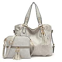 Deals on 2-Pcs Qiyuer Ladise Fashion Purse and Handbag Tote