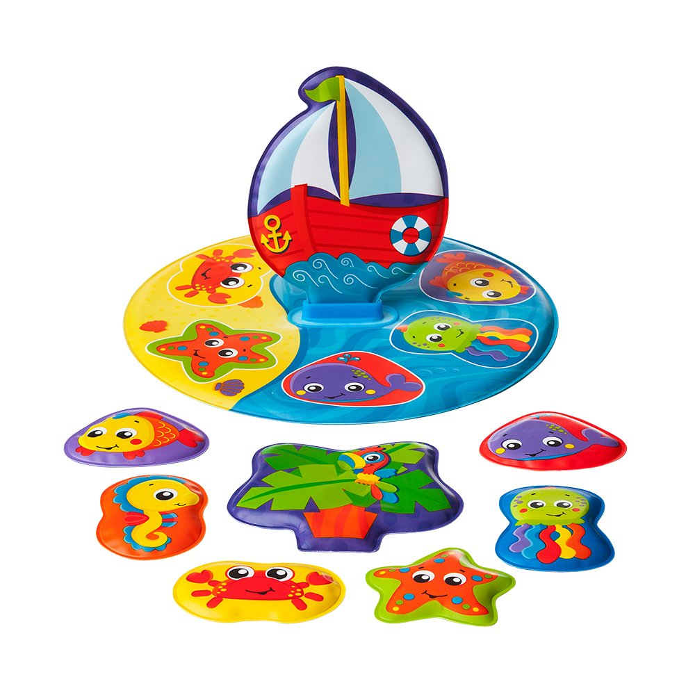 Playgro 0186379 Floaty Boat Bath Puzzle for baby infant toddler
