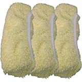 Sh-Micro Dust Wet Mop Cover for 15x8 Mop, Yellow - 3 Pack