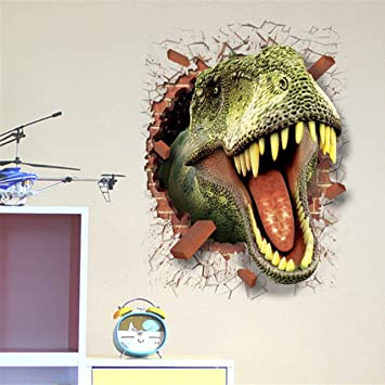 b7622af13a9ae2 PVC 3d Dinosaure Jurassic Park murale Autocollant Chambre d enfant mural  art décoration NEUF