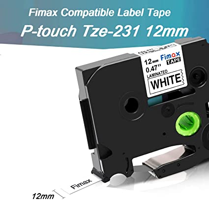 2470 2480 10x Font Tape Cartridge 12mm for Brother TZE-231 P-Touch 2460