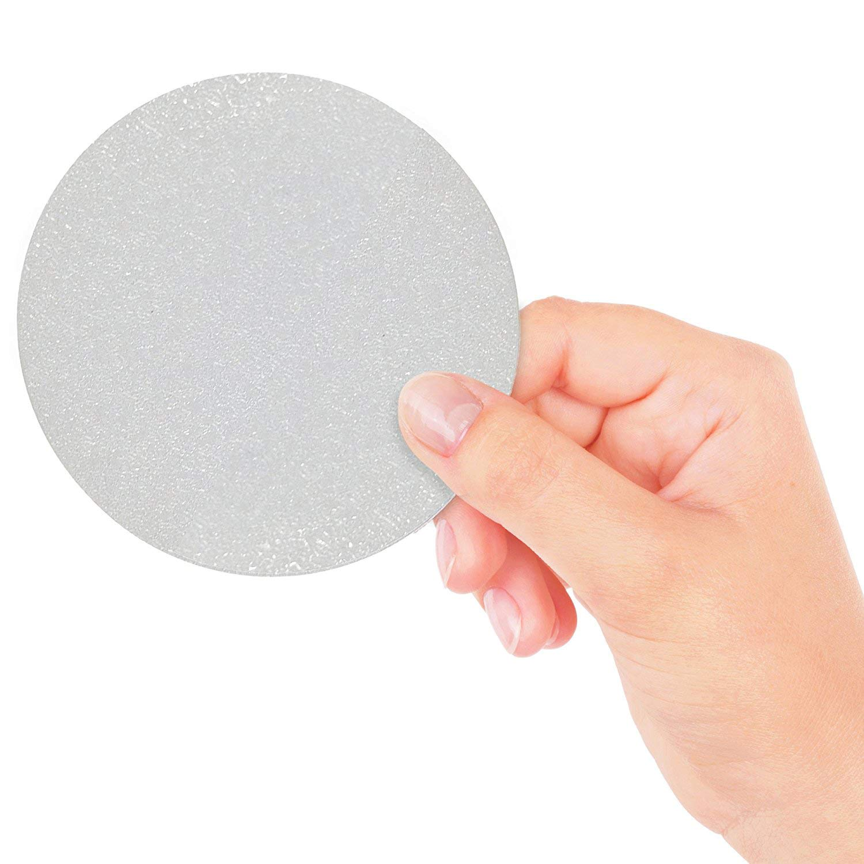 Non Abrasivi 18 Grandi Adesivi Circolari Trasparenti Antiscivolo per Vasca e Doccia per una Maggiore Sicurezza e Presa sul Fondo della Vasca