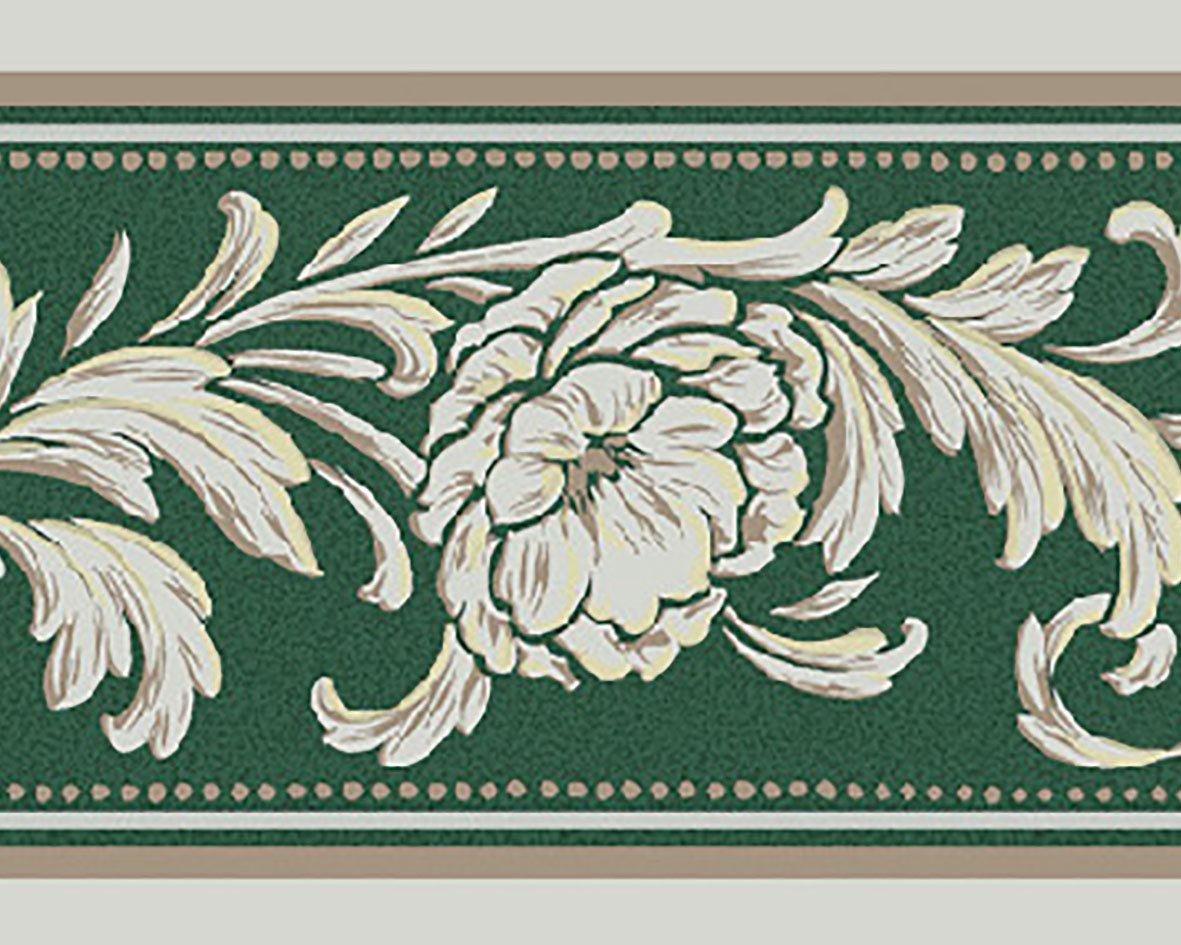 リリカラ トリムボーダー24本 エレガンス 花柄 グリーン  LW-2865 B07612PQNG 24本|グリーン