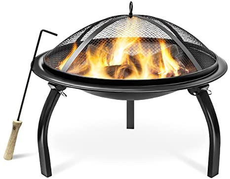 Sorbus Fire Pit 22u0026quot;, Portable Outdoor Fireplace, Backyard Patio Fire  Bowl, Foldable