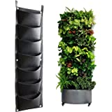 Vertical Garden Planters Bag, Hanging Garden Wall Plant Grow Bag with 7 Pockets for Plant, Flowers, Vegetables or Herbs