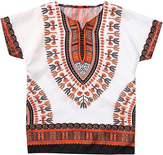 Ragazzi Camicia Stampa Africana 4yrs