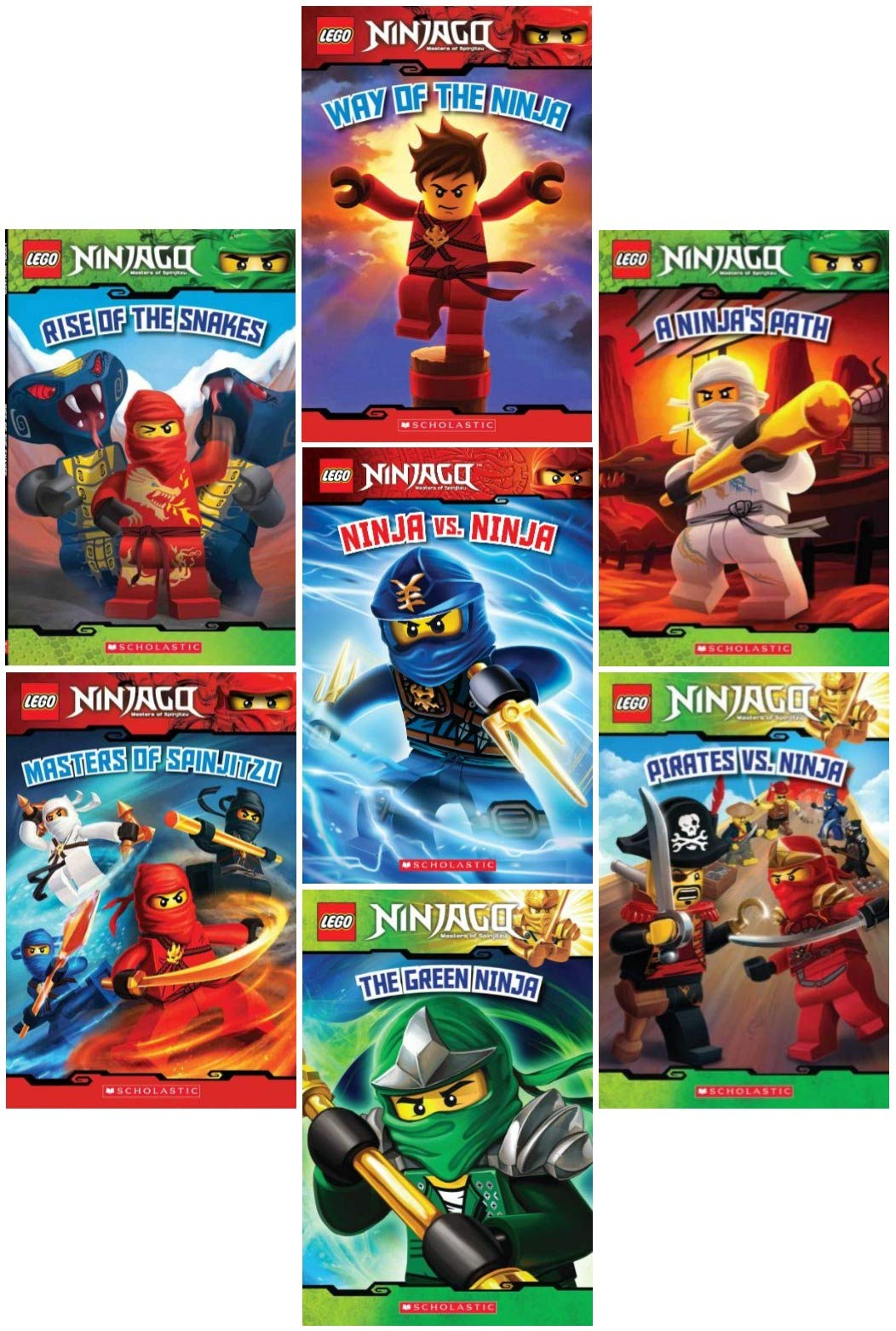 LEGO® Ninjago Reader Pack: 7 Book Set: #1: Way of the Ninja ...