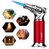 Lsnisni Butane Torch, Refillable Culinary Blow Torch Lighter with Safety Lock & Adjustable Flame for Creme Brulee…