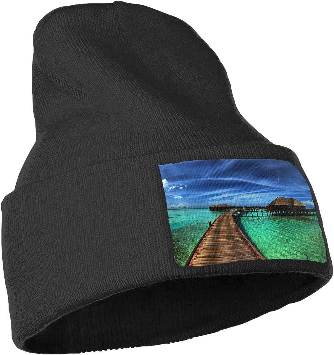JZMY6 Landscape Soft Warm Beanie Hat Men Beanie