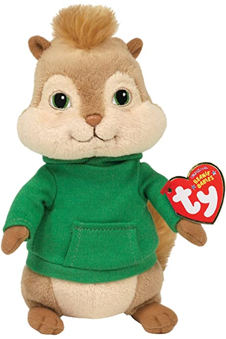 Amazon Com Ty Beanie Baby Theodore Alvin And The Chipmunks Toys Games