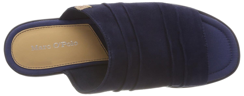 Flat Sandal 80314541108305, Zuecos para Mujer, Azul (Navy/Black 501), 36 EU Marc O'Polo
