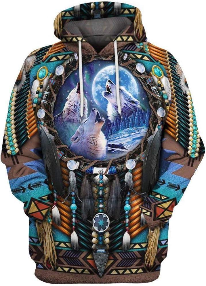 Mens Women 3D Printed Sweatshirt Couple Pullover Hoodie Hooded Jacket Coat Tops