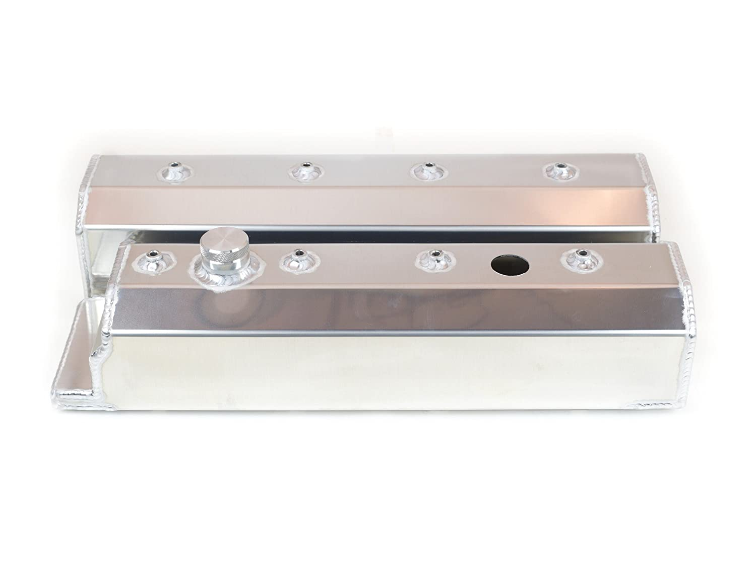 Canton Racing Products 65-206 Fabricated Aluminum Small Block Valve Cover with Hardware