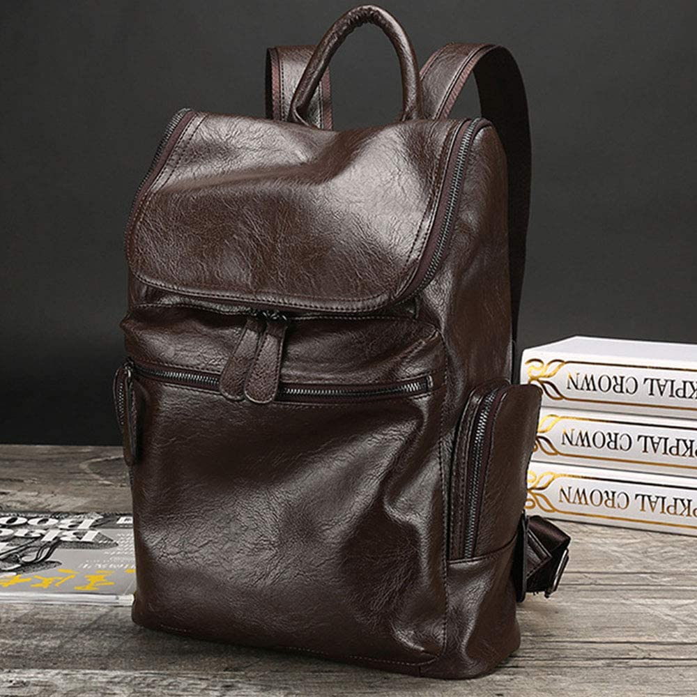 Color : Brown JIANGXIUQIN Backpack for Men Casual Backpack Backpack Men Camping Rucksack Daypack Teen School Backpack Backpack for 16in Laptop for College Travel Hiking