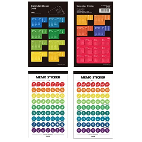 Amazon.com : 2018 Calendars Stickers For Planners Agenda ...