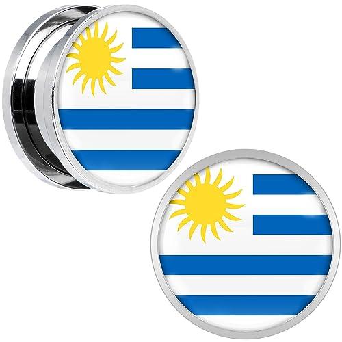 Cuerpo Caramelo Acero Inoxidable Uruguay Bandera Ajuste ...